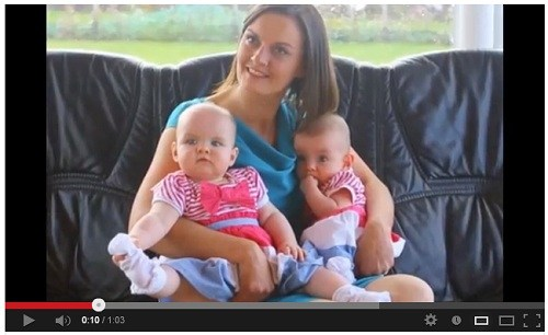 Maria and her twins Amy and Katie