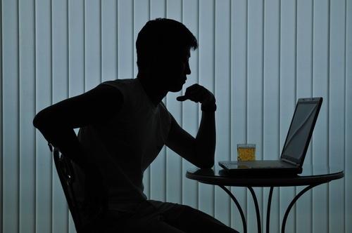 Young girls on online live web chat
