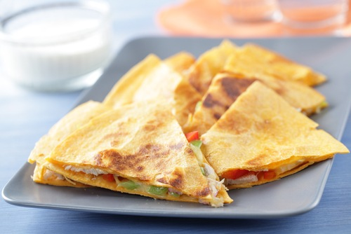 Interesting fun cheese sandwich ideas for kids - Cheesy chicken quesadillas