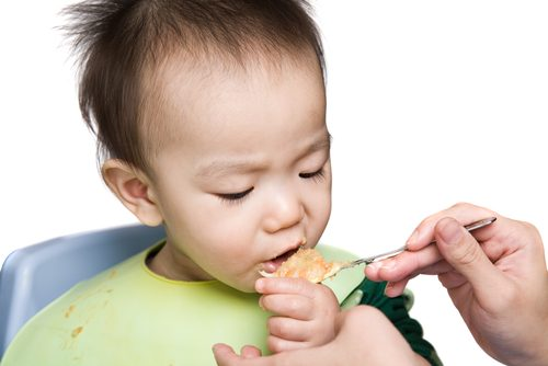 Do not force your child when feeding.