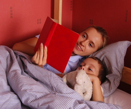 For many children, reading a book or two before going to sleep helps calm and settle them.