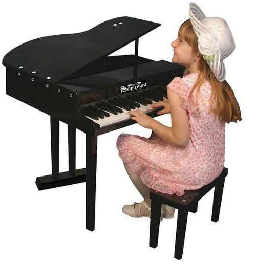 key concert grand with girl 12 days of Christmas BIG 'gift aways': Day 7 Win a Music 4 Tots Schoenhut Piano worth over $550