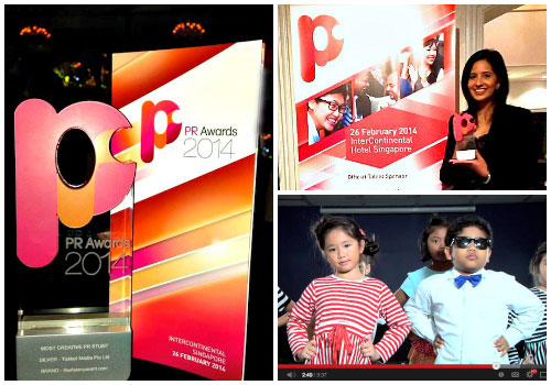 """We won Silver for """"Most Creative PR Stunt"""" at PR Awards 2014 Singapore!"""