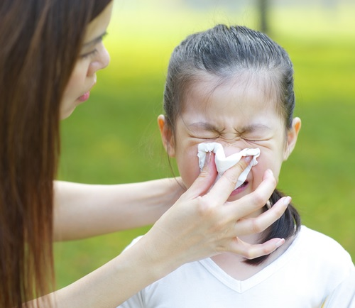 child's blocked nose