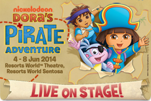 Win tickets to see Dora the Explorer in Singapore!