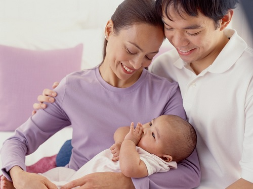 Gender of your baby, family, happy