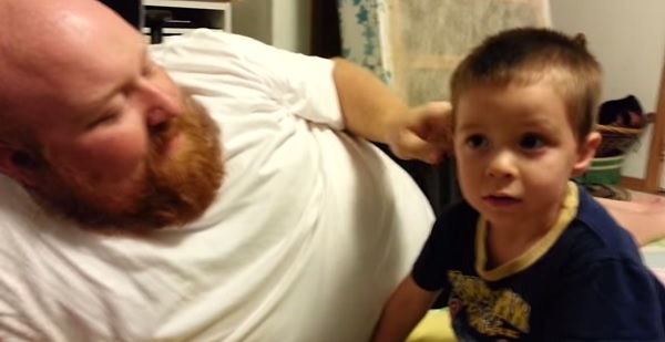 Cute video: Daddy took my nose and ear!