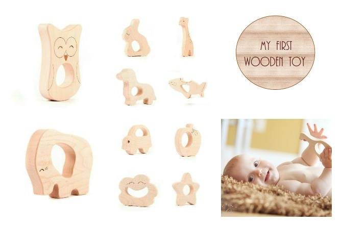 TeetherCollage 1 Win an eco friendly wooden toy for your baby's first Christmas!