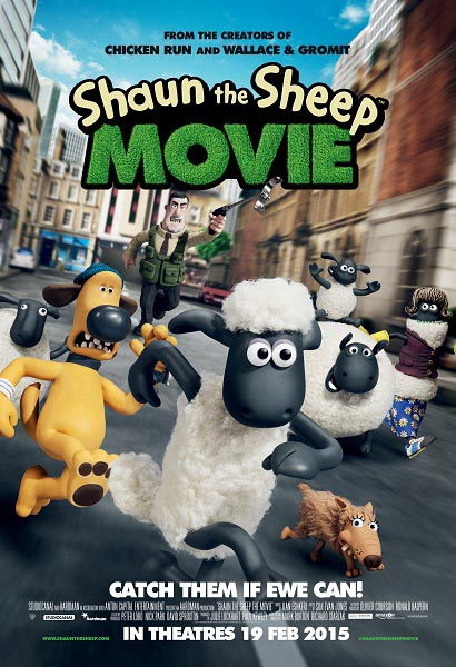 Shaun The SheepChasePoster A4 Poster Win Shaun the Sheep movie preview tickets & book set!