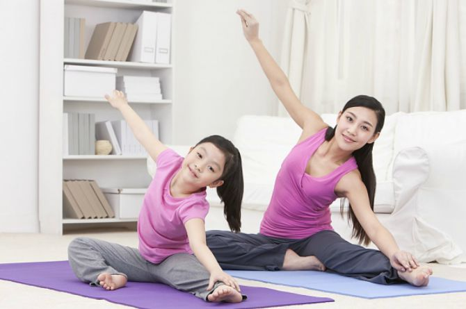 It is important for growing children to exercise regularly and get a well-balanced diet.