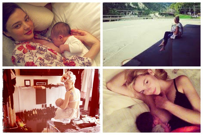 brelfie, celebrity, news, breastfeeding selfie, internet craze, parenting trend, social media