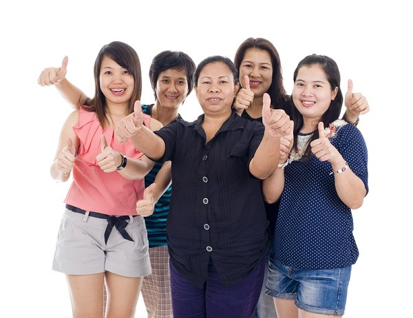 asian women thumbs up Is fertility shaming happening to you, too?