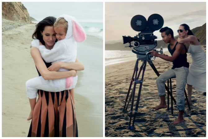 Brad and Angelina family pictures 2015