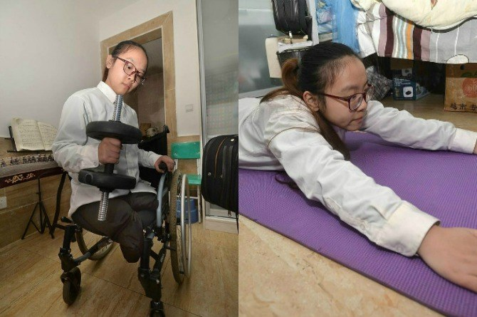 chinese girl with no legs