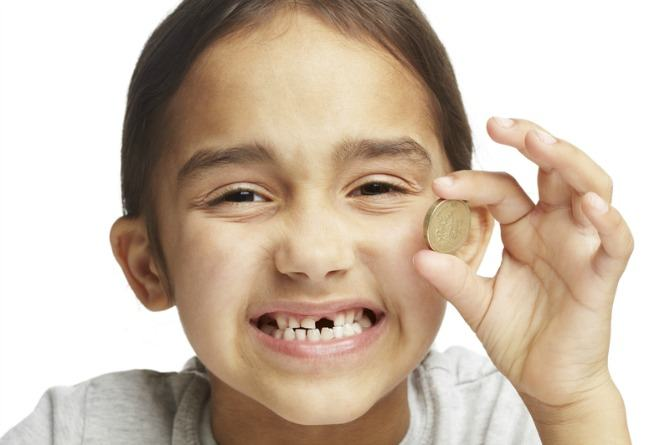 Tooth fairy, childhood myths, teeth, coin, money, smile, girl, happy