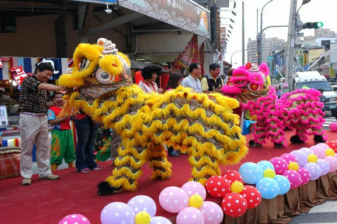 Lion dancing is an art form that requires martial arts training