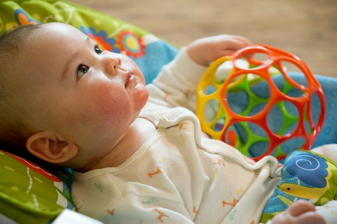 2-month-old, baby, toy, cute