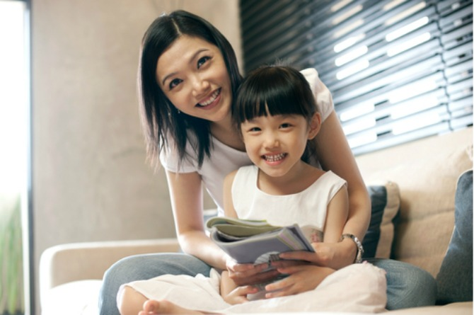 consistent routines, child, girl, daughter, mother, mum, happy, smile, read, book