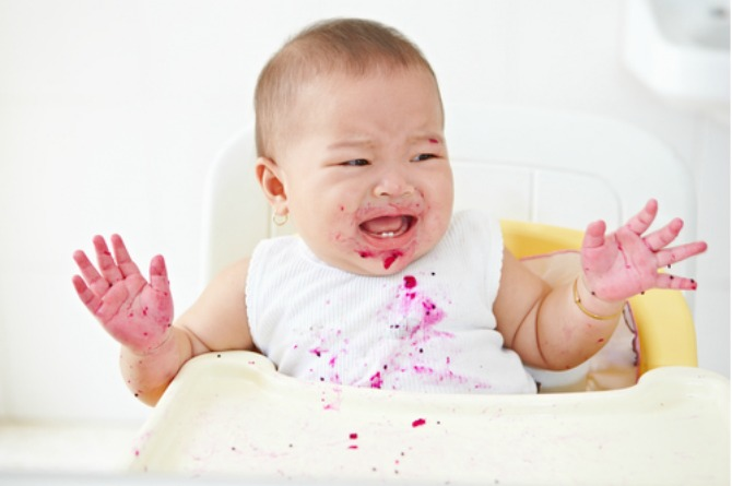 head injuries, baby, infant, safety, high chair, cry, sad