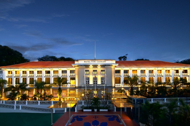 Hotel Fort Canning - Night Facade - Super High Res -Light