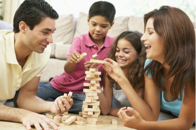 essence of chicken, family, happy, fun, play, game
