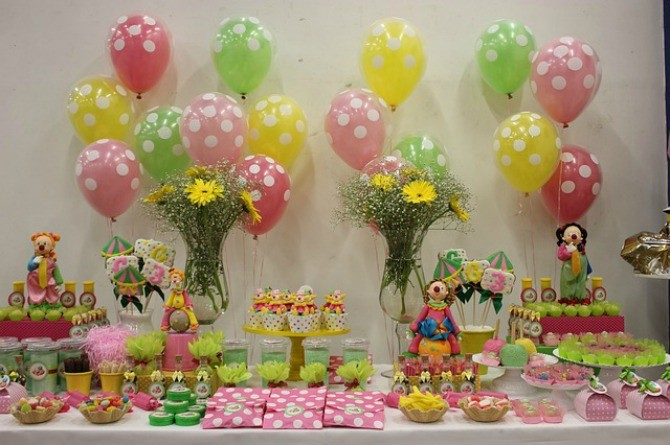 dessert table, party, birthday, food, snacks, candy, sweets, balloon