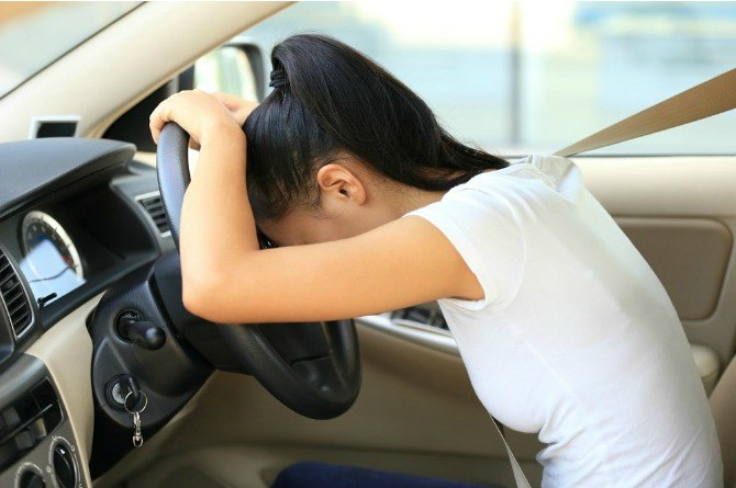 forgotten baby syndrome, drive, car, woman, stress