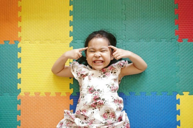 enrichment classes, girl, happy, play, silly, child