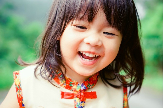 Lunar New Year, girl, child, happy, smile, Chinese New Year, cute