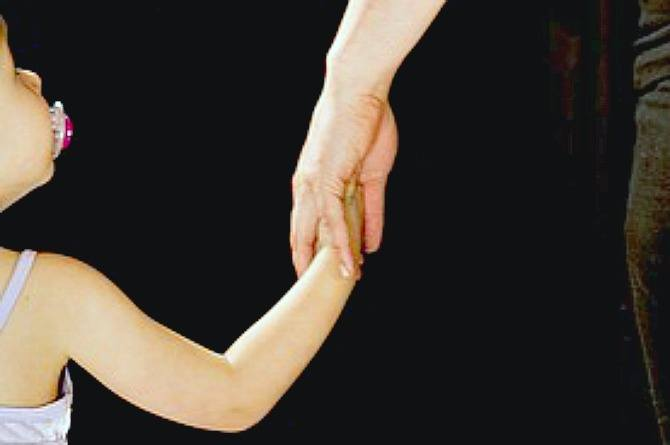 hold hands, girl, child, kid, toddler, preschooler, parent, mum, mother