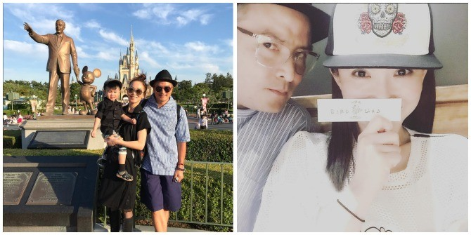 Singapore celebrity mums on holiday