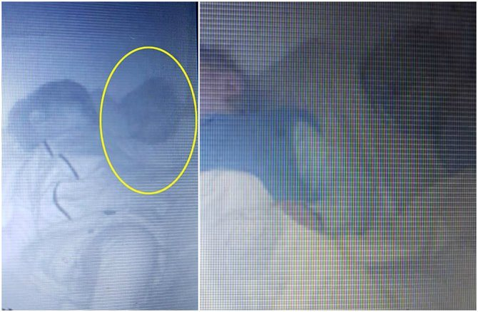 Spooked parents see 'ghostly baby' beside toddler on their baby monitor