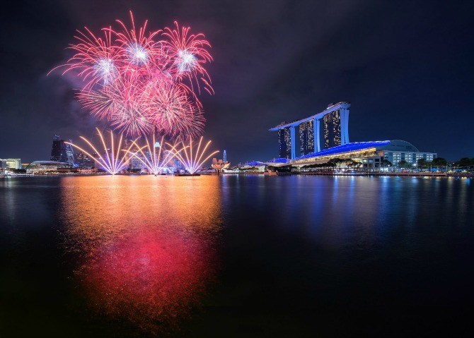 Singapore National Day 2017 Fireworks