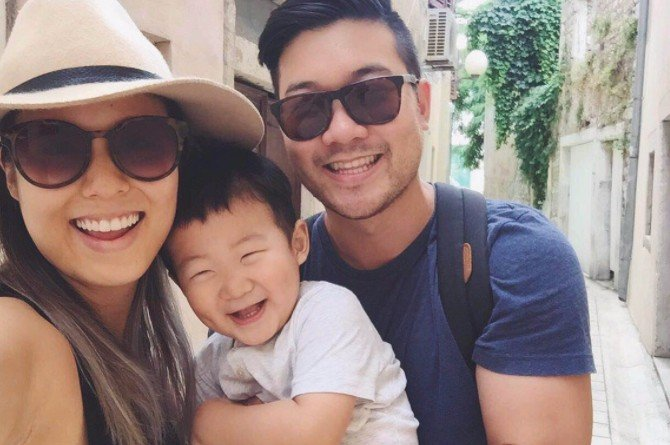 AndymetSonia family Celebrity YouTubers AndymetSonia share 6 life hacks all millennial parents should know when travelling with kids