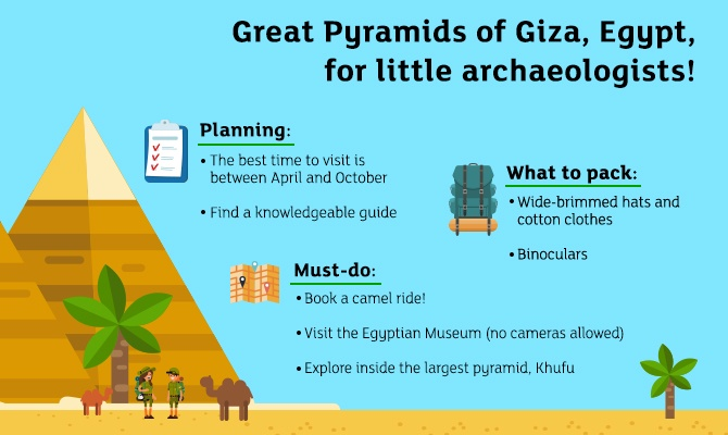 Giza Bring out your child's inner explorer by taking them to these 7 destinations