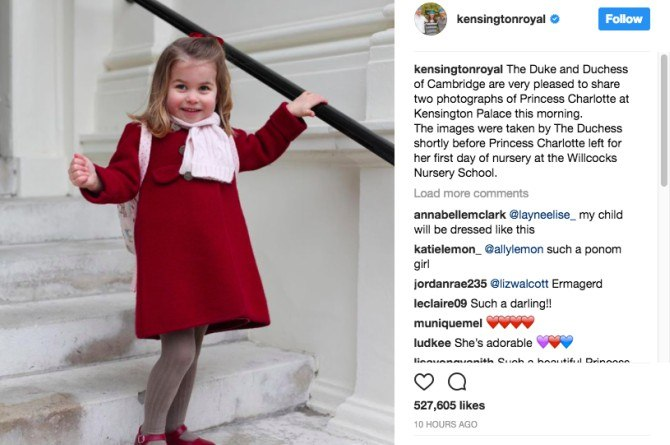 Princess Charlotte's first day at nursery