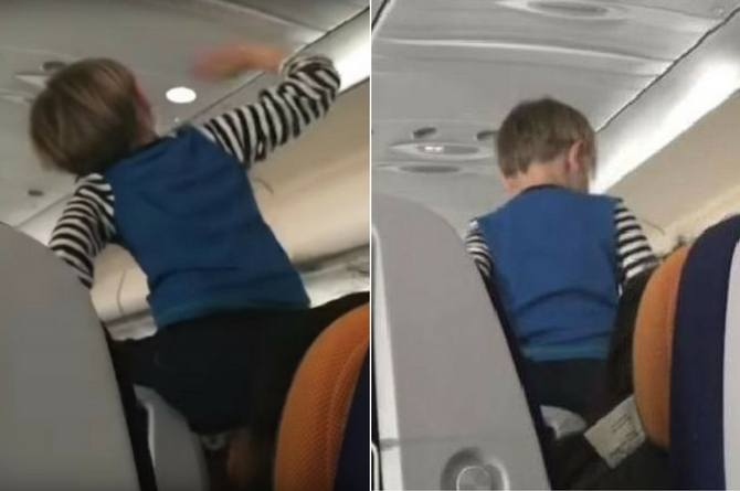 Child Screaming In Plane A Lufthansa Passenger Films A -4445