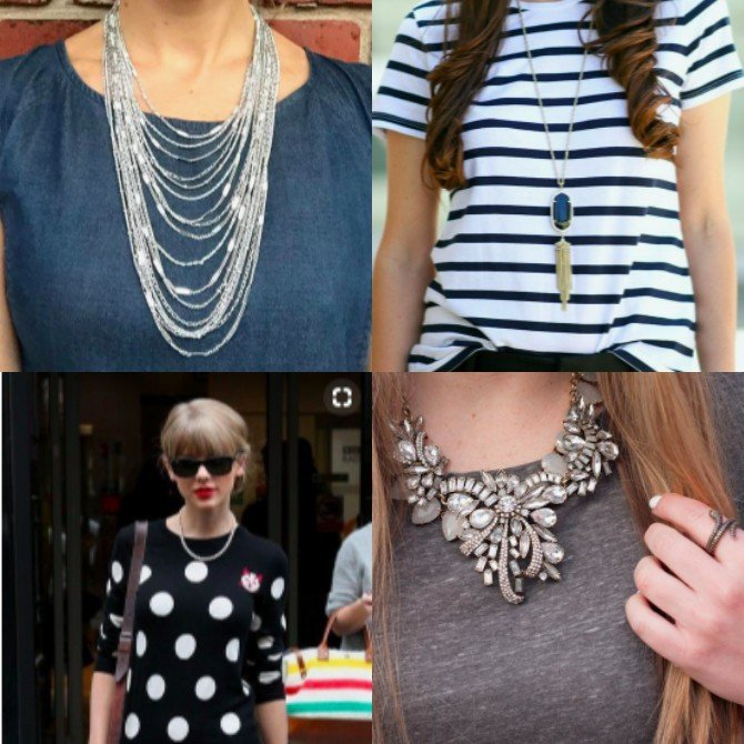 match your necklace to your neckline
