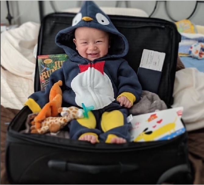 Janet Hsieh travelling with a baby