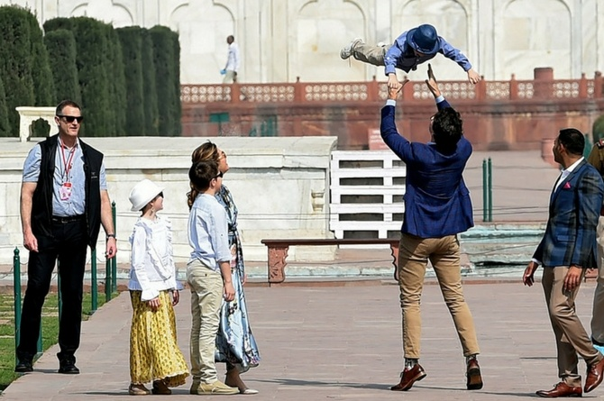 Justin Trudeaus son Hadrien copy B lift Justin Trudeau's son Hadrien spent a week in India taking hilarious pictures