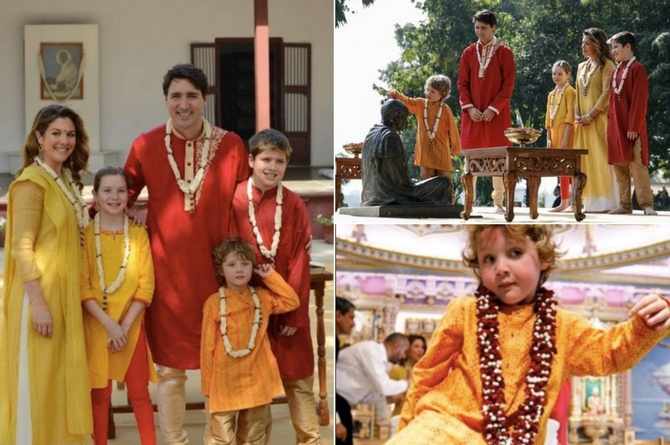 Justin Trudeaus son Hadrien copy B Justin Trudeau's son Hadrien spent a week in India taking hilarious pictures