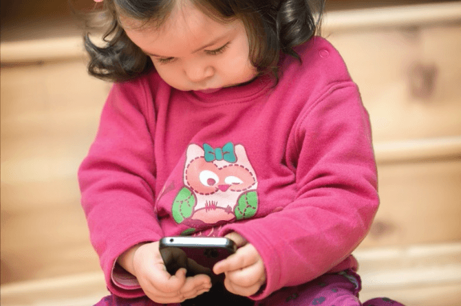 child locked smartphone
