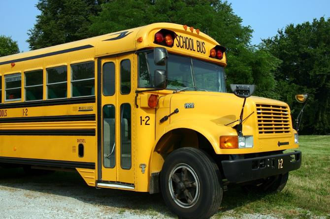 boy locked in school bus