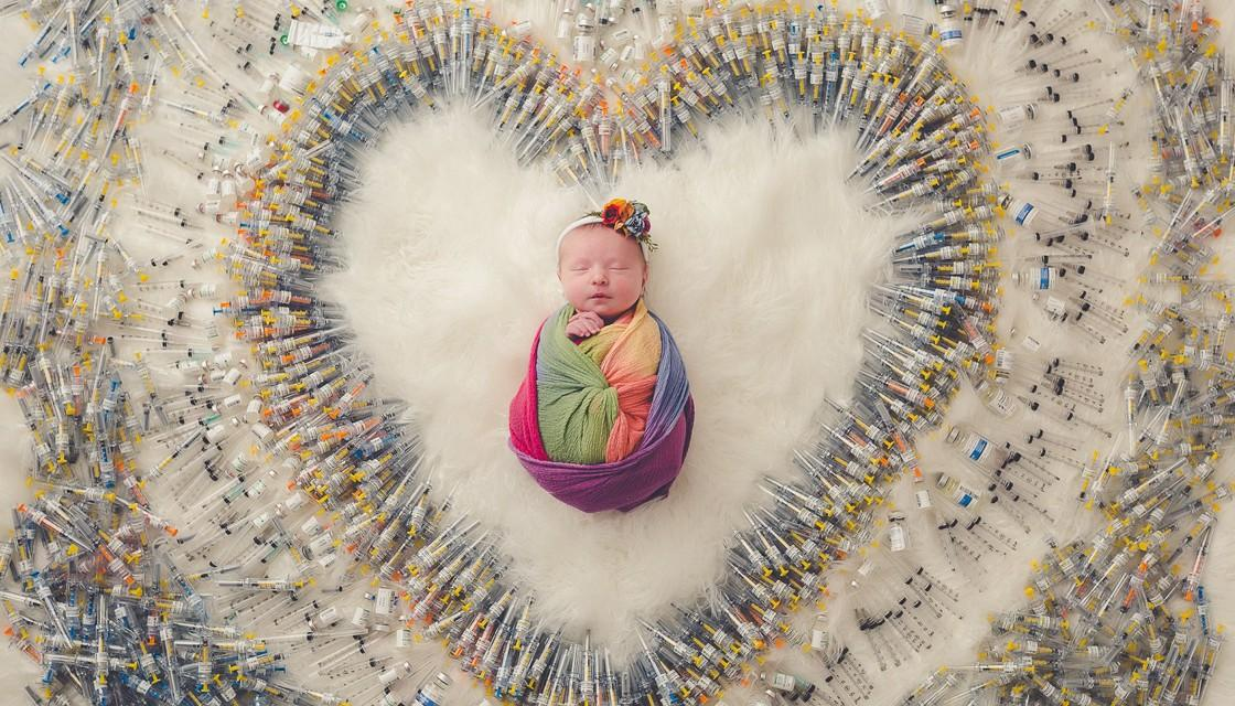 baby needles ivf facebook packer photography 1120 This IVF baby photoshoot is the most beautiful thing you will see today