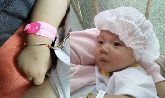 baby caraccident1 Mum who took crying newborn out of carseat has important message for parents