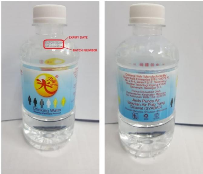contaminated bottled water in Singapore