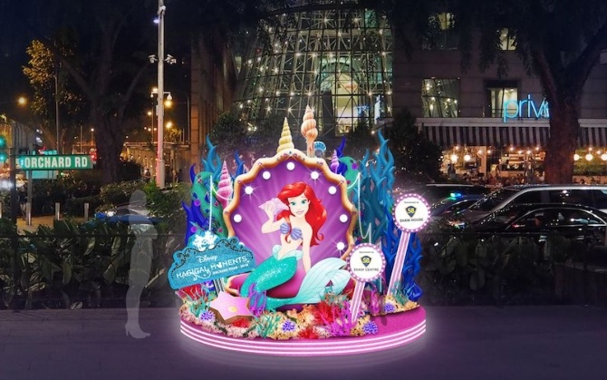 Orchard road Christmas light up 2018