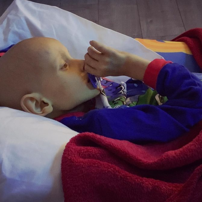 Child Battles With Cancer