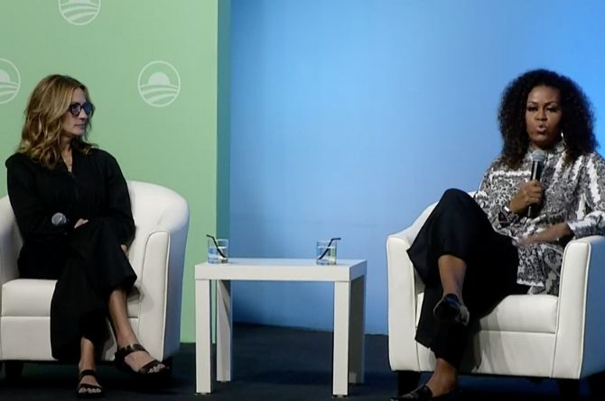 "Michelle Obama And Julia Roberts On Family & Relationships: ""You Define What 'Having It All' Means"