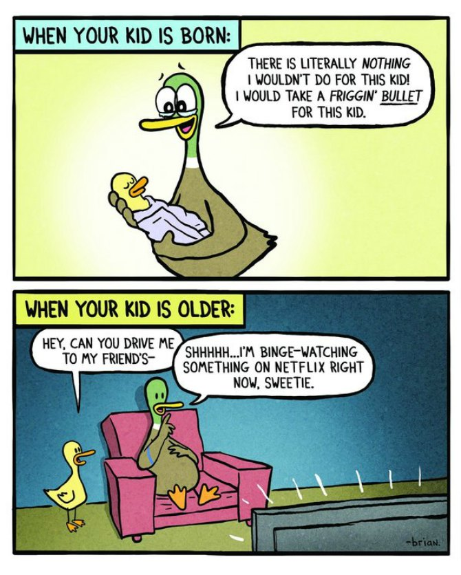 10 Cartoons perfectly encapsulate what it's like to be a parent